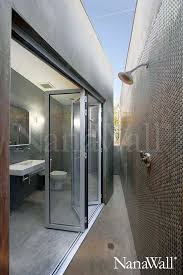 Outdoors Shower - inspiration showering outdoors to let nature in nanawall
