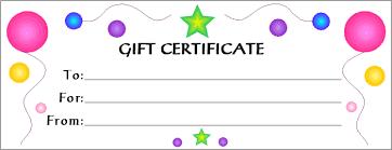 gift voucher samples colorful and elegant gift voucher template sample for kids