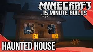 Halloween Haunted House Cake Minecraft 15 Minute Builds Haunted House Youtube