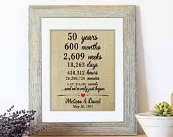 50 wedding anniversary gift ideas 50th anniversary gifts etsy
