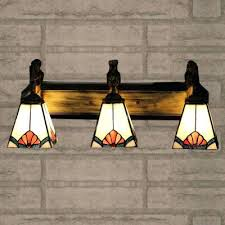 stained glass light fixtures home depot tiffany bathroom light fixtures stained glass style mermaid inch