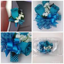 teal corsage new artificial teal corsage turquoise s corsage teal