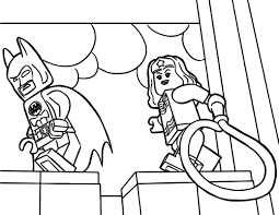 lego wonder woman coloring pages wecoloringpage