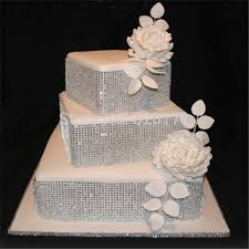 wedding cake accessories sparkle trim and a topper engagement party ideas
