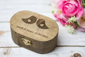 Wedding Ring Holder by Wedding Ring Box Love Birds Ring Box Rustic Wedding Ring Bearer