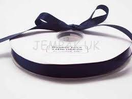 navy blue satin ribbon 5m x 15mm satin ribbon navy blue co uk