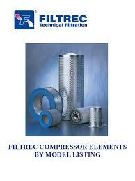 filtrec air filtration by compressor model 2012