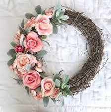 wedding wreath pink and s ear wreath summer wreath wedding wreath