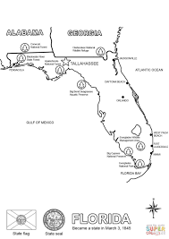 Map State Of Florida by Florida Map Coloring Page Free Printable Coloring Pages