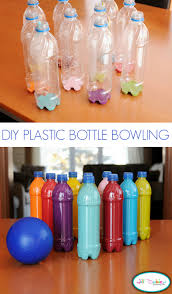 plastic bottle bowling tutorial u create
