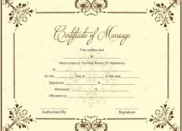 editable marriage certificate template u2013 printable documents