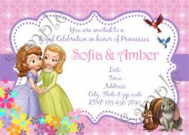 sofia the first birthday invitations alanarasbach com