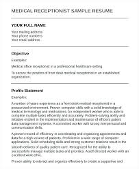 receptionist resume template here are receptionist resume free receptionist