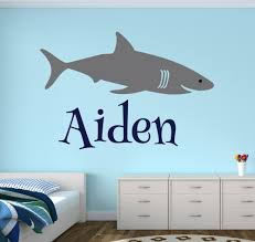 aliexpress com buy personalized shark name wall decal boys room aliexpress com buy personalized shark name wall decal boys room decal custom name baby wall decal vinyl wall stickers for kids room mural from reliable