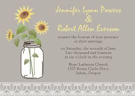 sunflower wedding invitations affordable rustic sunflower jars gold pocket wedding