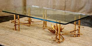 vintage gold coffee table what are unique features