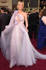 heidi klum one sleeve lavender tulle unique celebrity prom dress