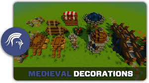 How To Make Decorations In Minecraft Minecraft Building Tutorial How To Build Medieval Town