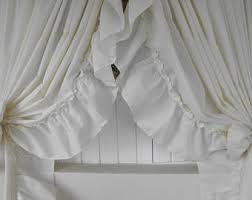 Ruffled Priscilla Curtains Priscilla Curtains Etsy