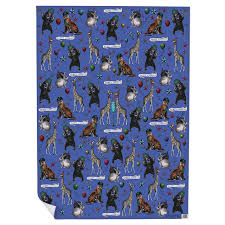 peacock gift wrapping paper and