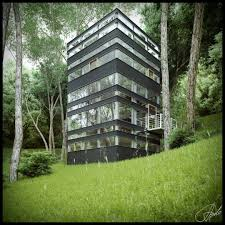 forest house in japan created by ando studio using 3dsmax