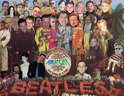 sargeant peppers album cover album cover parodies of the beatles sgt pepper s lonely hearts