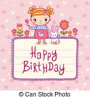 drawing of happy 65th birthday card with beautiful details such as