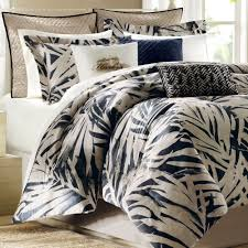 Palm Tree Bedspread Sets Bedroom Luxury King Size Coastal Duvet Cover Sets Pillow Sham And