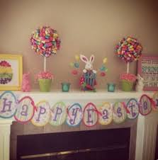 homemade easter decorations for the home decorating fireplace mantels homemade easter decorations for kids