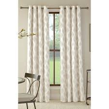 Allen Roth Curtain Allen Roth Bookner 84 In Neutral Cotton Grommet Light Filtering
