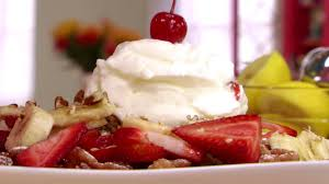 banana split funnel cake videos cooking channel cooking channel
