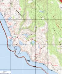 Topographical Map Of New Mexico by Topographic Map Of The Coast Trail To Wildcat Beach Point Reyes