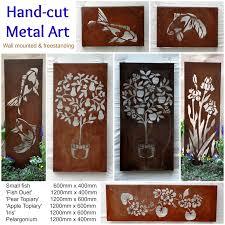 Garden Wall Ornaments by Exterior Wall Decor Metal Home Decor Ryanmathates Us