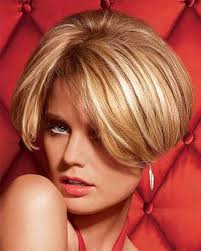 regis bob hairstyles classic bob with side bangs in golden blonde