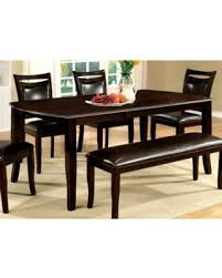 espresso dining table with leaf amazing deal on furniture of america clemmine espresso extendable