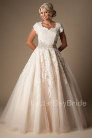 wedding dresses high front low back modest bridal gowns beckstead