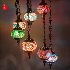 turkish moroccan pendant light handmade mosaic stained glass