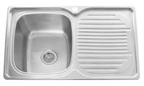 Kitchen Single Sink by Stylish Single Bowl Stainless Steel Kitchen Sink With Drainboard