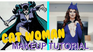 catwoman makeup halloween vintage cat woman makeup tutorial amanda cerny youtube