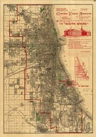Rush Street Chicago Map by Shifting Grounds Pamela Bannos
