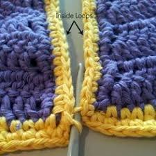 how to join crochet squares completely flat zipper method inside loops 300x300 how to join crochet squares completely flat