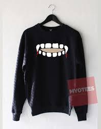 Vampire Teeth Vampire Teeth Keyhole Unisex Sweatshirt My O Tees