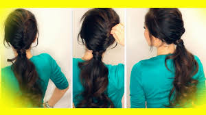 easy hairstyles for long hair in ponytail braids ponytails
