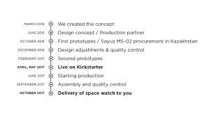 watches built from spaceborne rockets by werenbach u2014 kickstarter