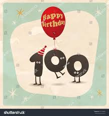 100th Birthday Card Vintage Style Funny 100th Birthday Card Stock Vector 331783508