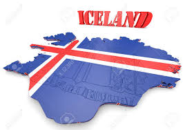 Flag Iceland 3d Map Illustration Of Iceland With Flag And Coat Of Arms Stock