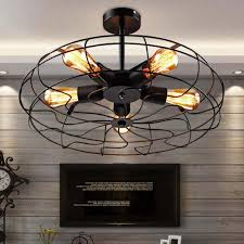 Black Kitchen Light Fixtures Vintage Industrial Iron Chandelier Fan Loft Black Pendent Light