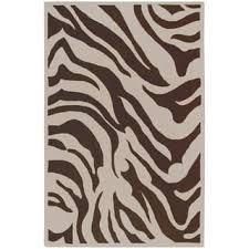Brown Zebra Area Rug Brown Zebra Rug At Overstock