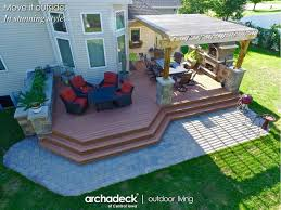 Patio And Deck Ideas Best 25 Deck With Pergola Ideas On Pinterest Wooden Pergola