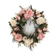 flower wreath door wreaths floral decor ebay